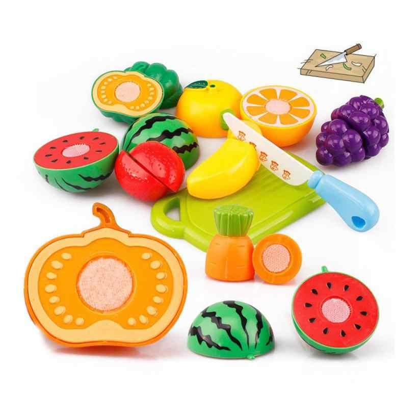 Hiinst детские игрушки для кухни 2017 20 шт. резка фруктов овощей ролевые игры Детский обучающий игрушки * R