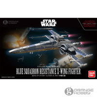 OHS Bandai Star War 1/72 Blue Squadron Resistance X Wing Fighter Assembly Scale Plastic Model Kits oh