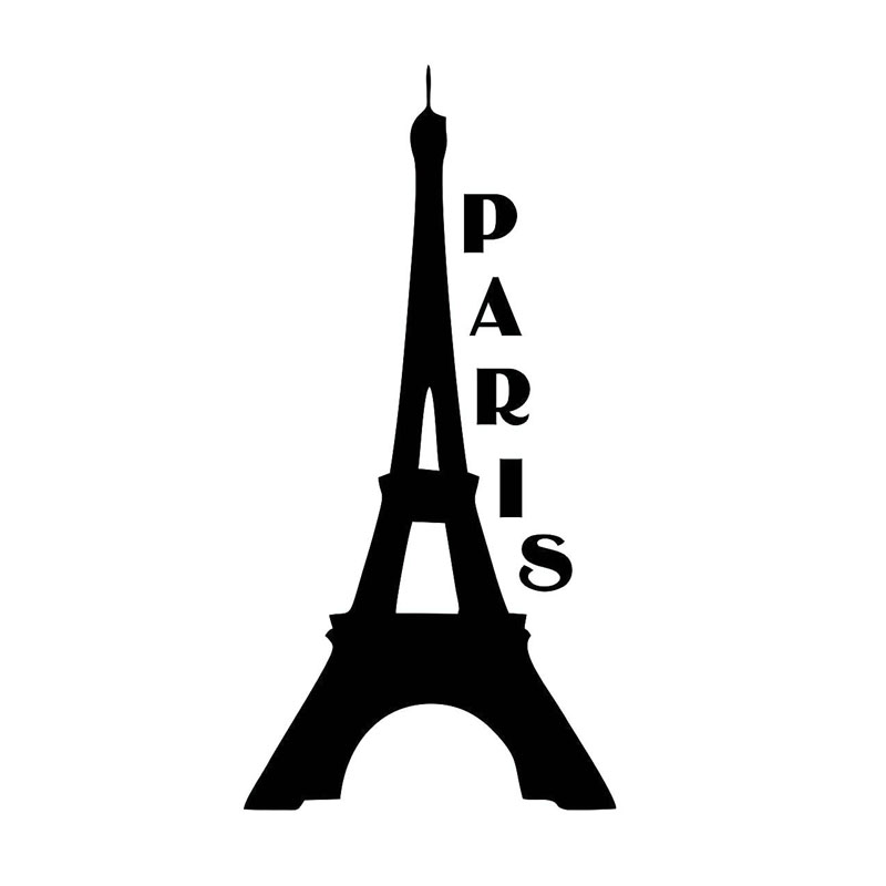 20X10CM EIFFEL TOWER PARIS Vinyl Decals Black/Silver Car Sticker Car-styling S8-0272