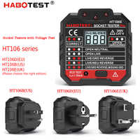 HT106B HT106D HT106E Digital display socket tester plug polarity phase check detector Voltage test multi-function electroscope