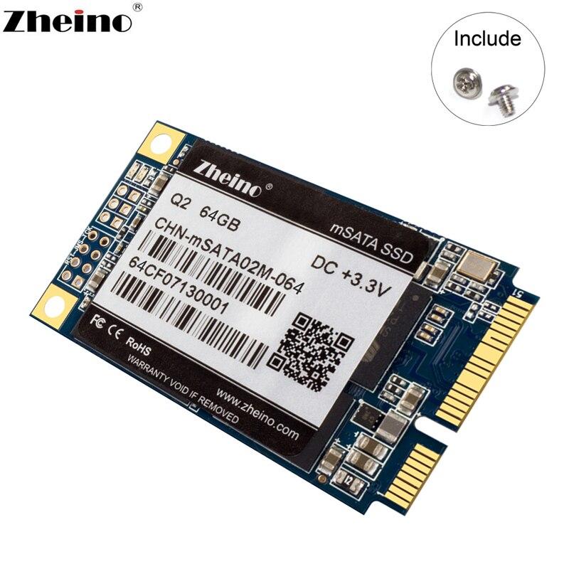 Zheino Q2 mSATA SSD 64GB 128GB 256GB MLC Internal Solid State Drive For Desktop Laptop