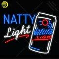 Неоновая неоновая вывеска Natty Light из натурального стекла  световая лампочка  значки  световые лампы для магазина  вывеска  неоновая лампа руч...