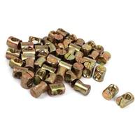 HHTL M8x12mmx15mm Bed Barrel Bolts Cross Dowel Slotted Furniture Nuts 50pcs