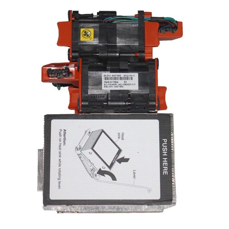X3550 M4 CPU cooler kit heatsink 81Y7335 81Y6696 2x fan 94Y7563 kit X3550M4 heat sink 81Y7335