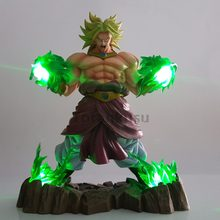 Dragon Ball Z Broly Action Figures Super Saiyan Green Power Led Light Anime Dragon Ball Super Broly Figurine DBZ(China)