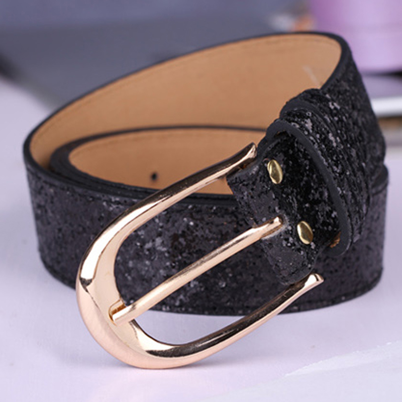 2019 new fashion design leather belt for women buckle belts women jean strap gold sliver color 110 cm length in Women 39 s Belts from Apparel Accessories