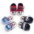 Primavera outono da menina do menino do bebê 0-18 m sapatos de mickey mouse dos desenhos animados fundo macio cozy gancho algodão das sapatas de bebê da criança shoes grátis grátis