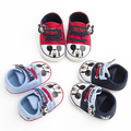 Spring Autumn boy girl baby 0-18M cartoon mickey mouse shoes soft bottom cozy baby shoes toddler hook cotton shoes free shipping