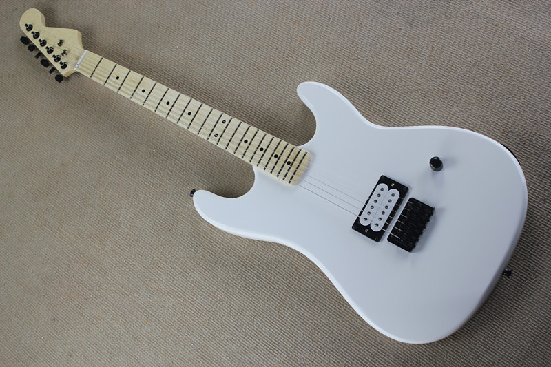 factory custom white body electric guitar with one humbucking pickups maple fretsboard black. Black Bedroom Furniture Sets. Home Design Ideas