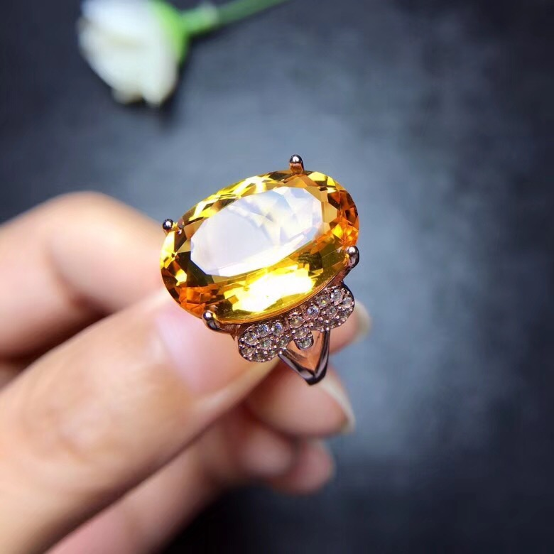 HTB1 U6sa2fsK1RjSszbq6AqBXXam - Citrine Ring for Women, 925 Sterling Silver Wedding Jewelry