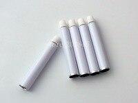 Atacado 200 Pcs de Alumínio de Prata Creme Dental Tubo de Pasta de Dente Para O Preenchimento de 5 ml Garrafa Reutilizável Dobrável Macio 13.5*70mm