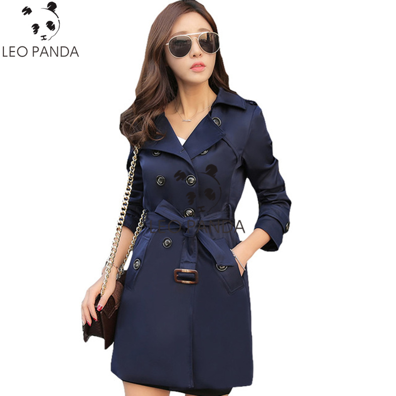 2018 New Spring Autumn Plus Size 5XL Windbreaker Fashion Loose Coats Womens Overcoat Double Breasted Belted Long Female Coat