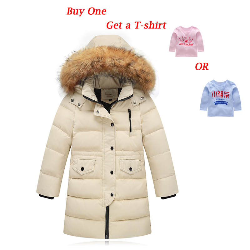 ESCERO Children Winter Down Girls Thick Down Boys Winter Jacket Long Big Fur Hooded Outerwear Coats Kids Down Girl Jacket winter coats girls down jacket for boys parkas long glasses models kids hooded jackets thick warm ski children outwear clothes