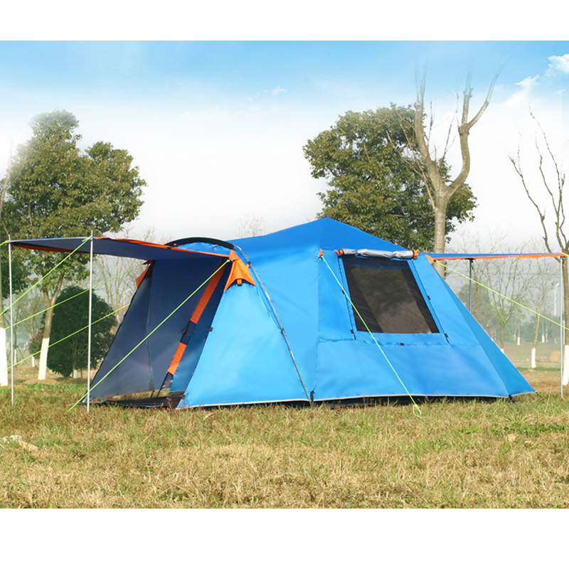 3-4 person automatic 4 seasons ultralarge high quality waterproof windproof camping family tent high quality outdoor 2 person camping tent double layer aluminum rod ultralight tent with snow skirt oneroad windsnow 2 plus