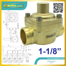 1-1/8″ plunger Check Valve installed in any section of a refrigerating system, avoiding an inversion of the refrigerating flow,