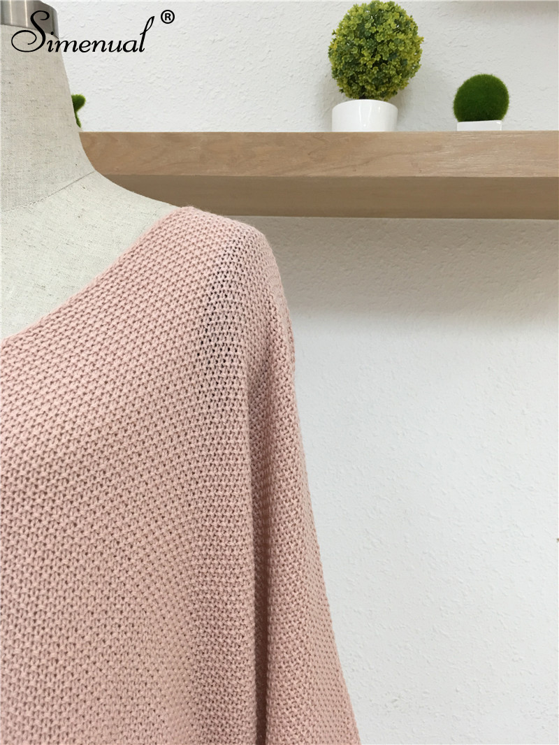 Oversized Batwing Sleeve Lady's Sweater, Knitwear V Neck, Long Pullover 18