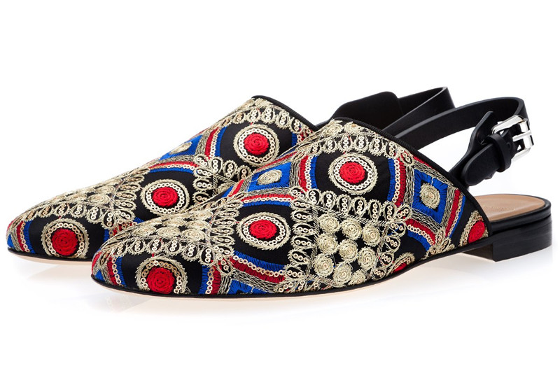 SHOOEGLE Luxury Men Handmade Multicolor Wedding Shoes Male Casual Smoking Loafers Man Floral Embroidered Tassel Shoes in Men 39 s Casual Shoes from Shoes