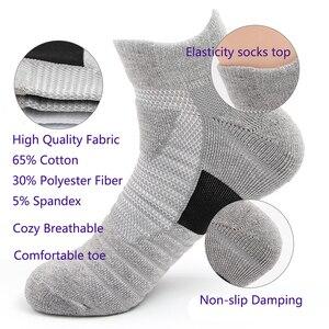 Image 3 - LifeWheel erkek çorapları spor pamuk çorap ter nefes Deodorant havlu alt uzun tüp kısa çorap 6 çift/grup