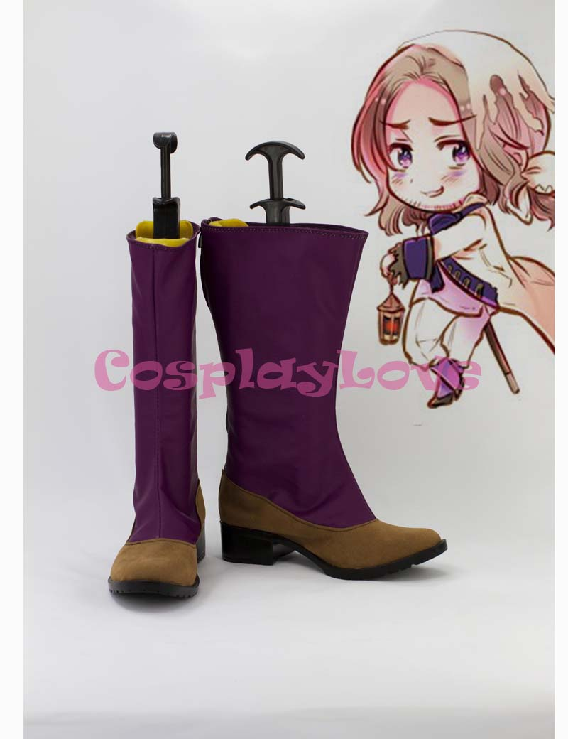 Custom Purple France Cosplay Shoes Boots from Axis Powers Hetalia Cosplay For Halloween Christmas