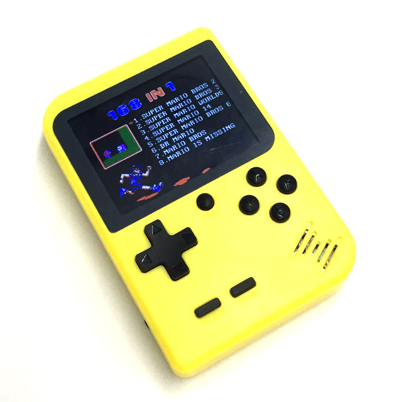 2.8 inch TFT Color Screen Handheld Game Consoles 5 Colors Game Player with 8 Bit 168 Built-in Games Support AV Output