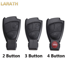 LARATH New Replacement 2/3/4 Buttons Remote Key Shell Fob Cover Car Key Case For Mercedes Benz B C E S ML SLK CLK Class