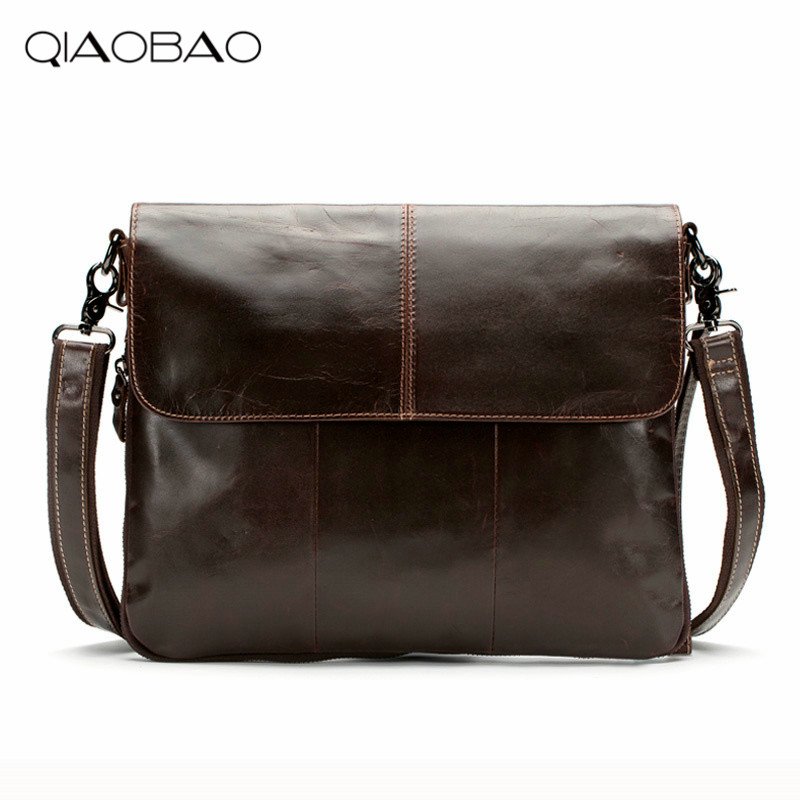 QIAOBAO New High quality genuine leather men bag messenger bags fashion brand design men's shoulder bag qiaobao 100% genuine leather bags new 2017 fashion brand ladies crossbody shoulder bag women messenger bags l3001
