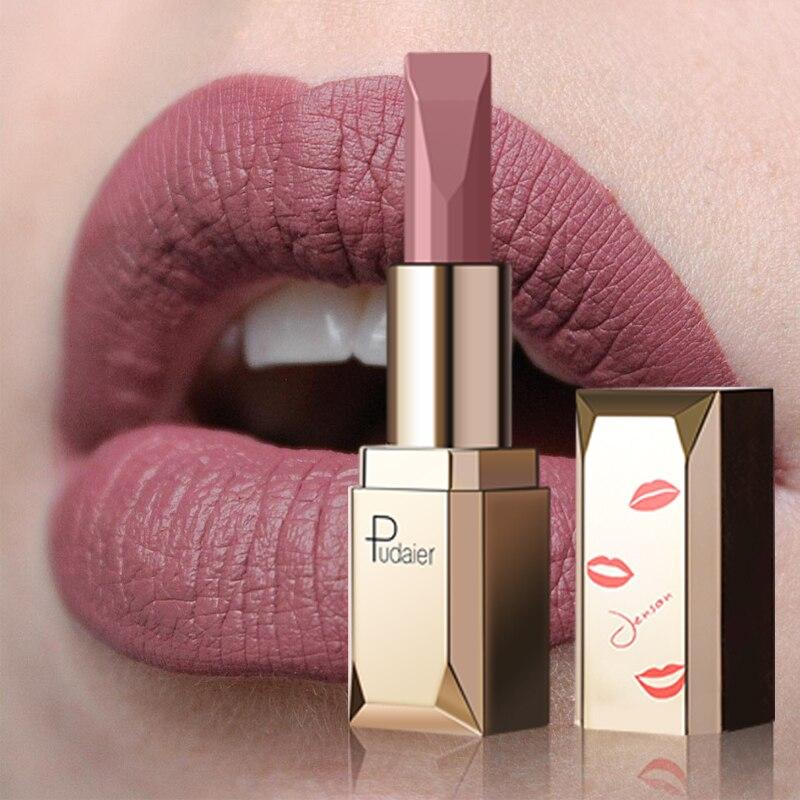 Pudaier mat rouge à lèvres imperméable à l'eau maquillage des lèvres 26 couleurs longue durée hydratant teinte des lèvres Pigment noir Sexy rouge un levre mat