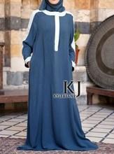 Latest vestidos Muslim abaya for women, sandwash cotton islamic clothing for women