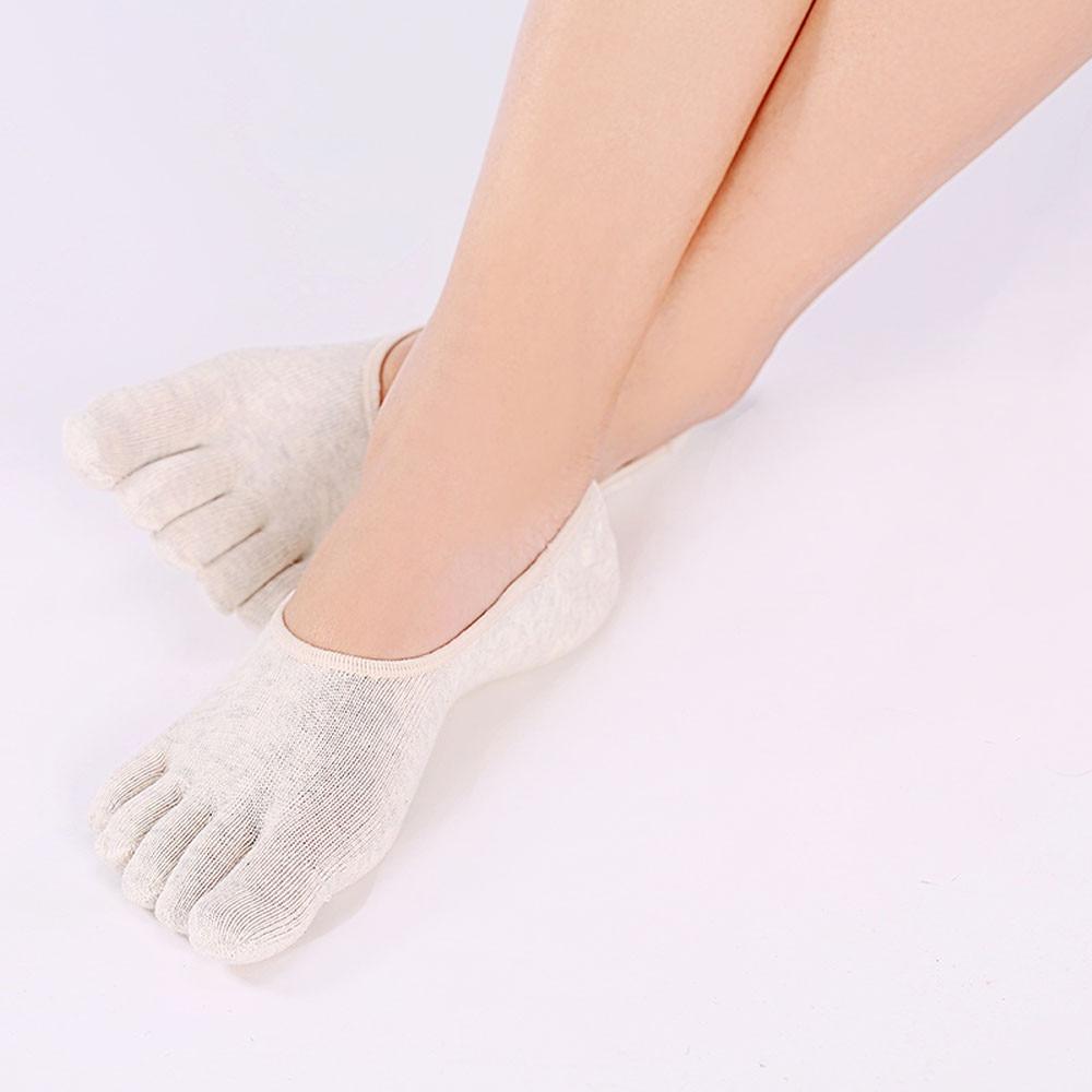 2016 Summer Womens Solid Color Non Slip Soft Massage Five Toe Socks Amazing Jul 15 New
