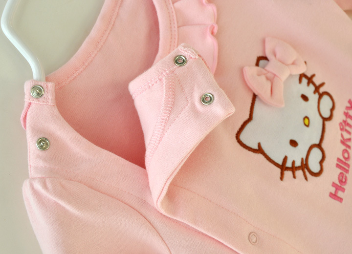 HTB1 U7pJFXXXXbqaXXXq6xXFXXXz - 2 Pcs Newborn Girl Organic Cotton Hello Kitty Romper Set Baby Cute Pink Jumpsuit with Hat New Born Ruffled Collar Bowknot Outfit