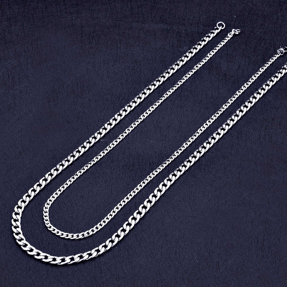Wholesale 4MM 6MM 8MM Stainless Steel 1:1 NK Fegalo Chain Necklace Cool Fashion Men's Jewelry Christmas Brothers Gift drop ship