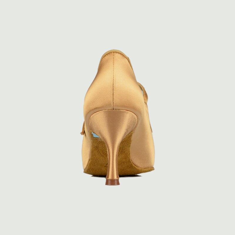 Adulte Sneakers Chaussures De Danse Moderne Marque Carré BD137 Partie Salle De Bal Latine Chaussures Femmes Satin Diamants Doux base de Peau de Vache CHAUDE - 6