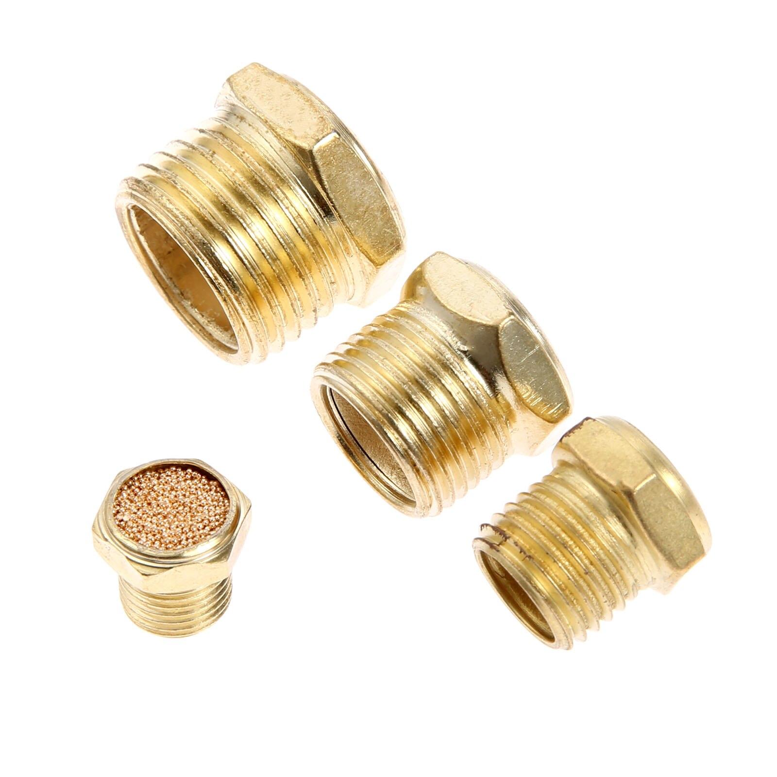 """10pc  Pneumatic Brass Muffler 1//4/"""" Male  Air Solenoid Valve Silencer"""