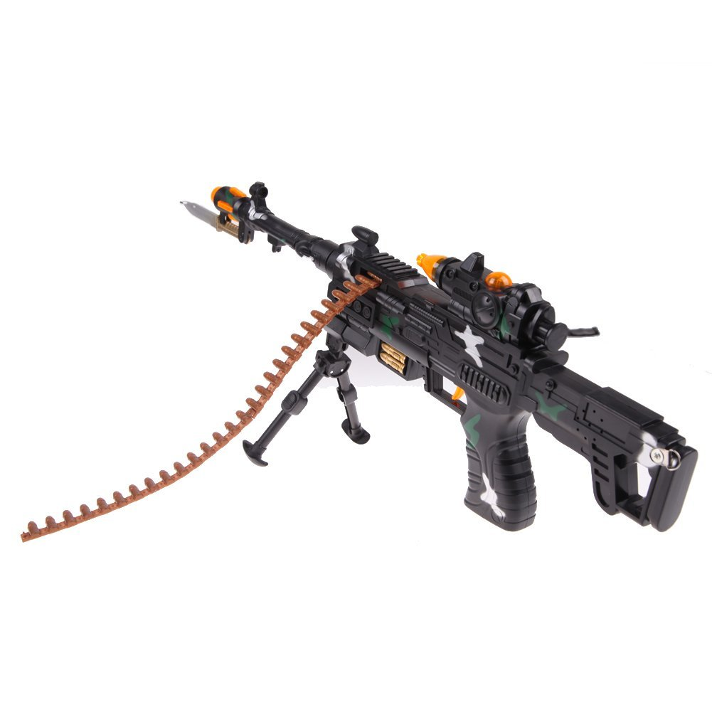 ABWE NEW TOY KIDS MILITARY ASSAULT MACHINE GUNS WITH SOUND FLASHING LIGHTS GIFT