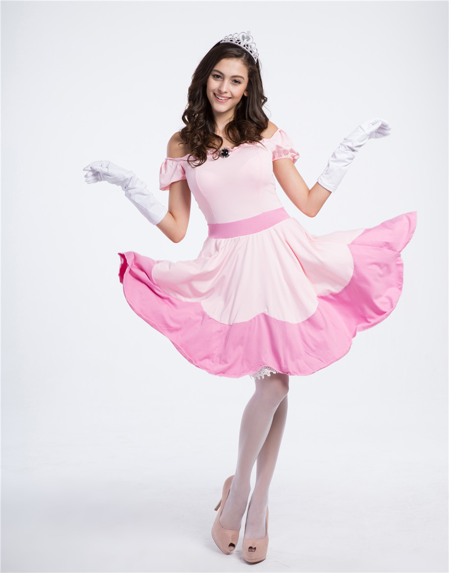 Purim Carnival costumes Women Fairy Tales Princess Costume pink dress Adult Anime Cosplay Clothing  Halloween Party Dress