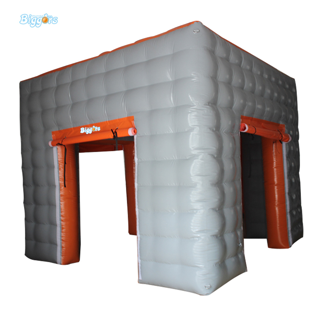 цены на Inflatable Biggors Cube Tent Cheap price Inflatable Booth Tent With LED Light For Sale в интернет-магазинах