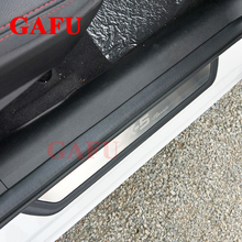цена на For Mazda Cx-5 Cx5 2018 2017 Stainless Steel Door Sill Plate Door Scuff Cover Kick Step Trim Protector Molding Car Accessories