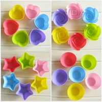 300pcs Mini Silicone Cup Cake Pan Mold Muffin Cupcake Form to Bake Kitchen Baking Tools for Cakes Free Shipping