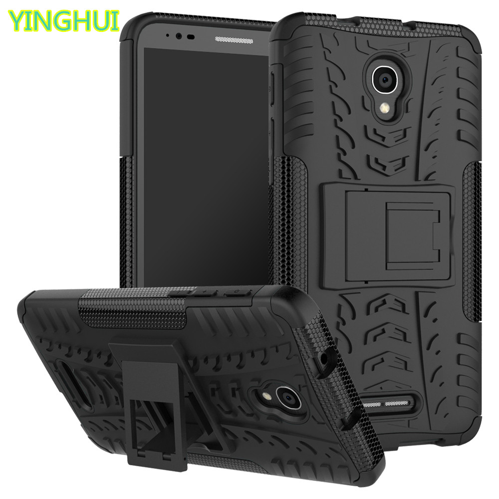 For <font><b>Alcatel</b></font> Pop 4+ 5056 Cases Kickstand Armor Duty TPU + PC Shockproof Case For <font><b>Alcatel</b></font> One Touch POP 4 Plus <font><b>5056D</b></font> image