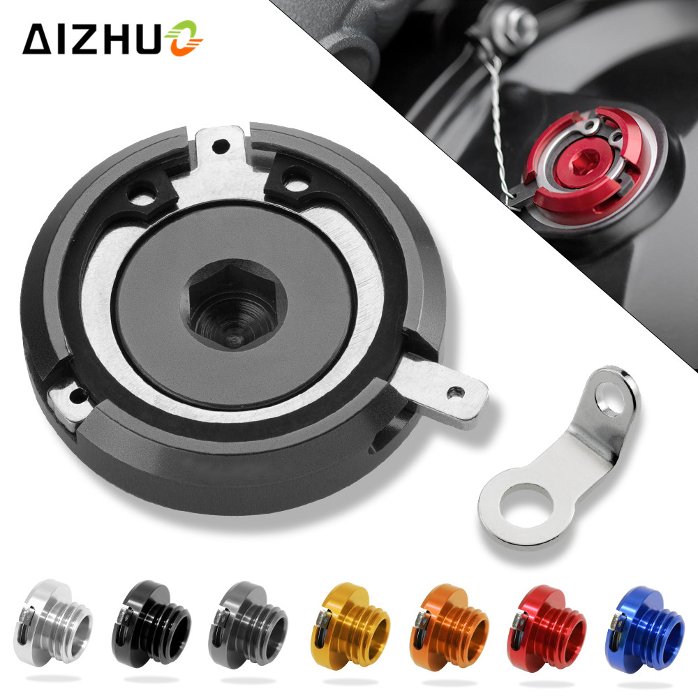 M20*2.5 Motorcycle Engine Oil Filler Cup Cap Reservoir Cup For honda cbr 125 cb500f crf 250 xr 250 cbr 600 f4 steed 400