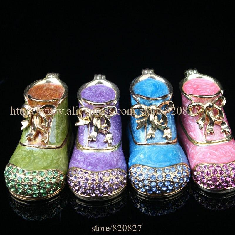 (Упаковка из 2) мини загрузки металлические декоративные шкатулка подарок Коробки распродажа Обувь для девочек обуви брелок подарок милые о...