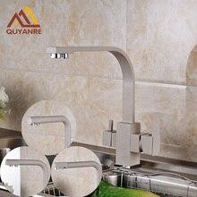 Новый дизайн бортике кран кухонной мойки чистая вода кран с двойной waterout Носик Смеситель