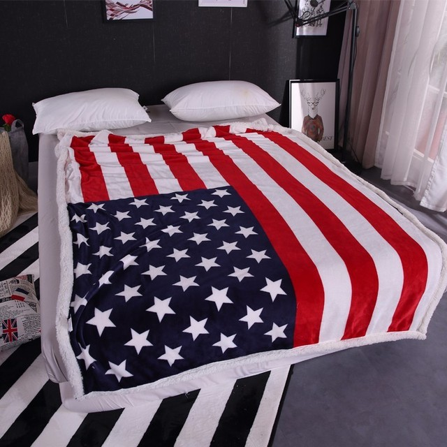 American  BRITISH Throw Blanket