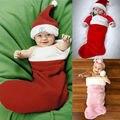 2016 Moda Bebê Recém-nascido Menina Menino Natal Fotos Prop Velo Cobertor de Santa Roupas Roupas Traje