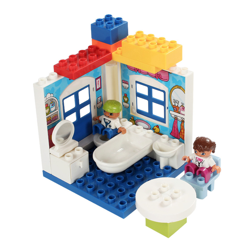 White Wall Duploe Building Large Building Block DIY Classic Piece Big Size Set Toy Accessories Compatible Legoe