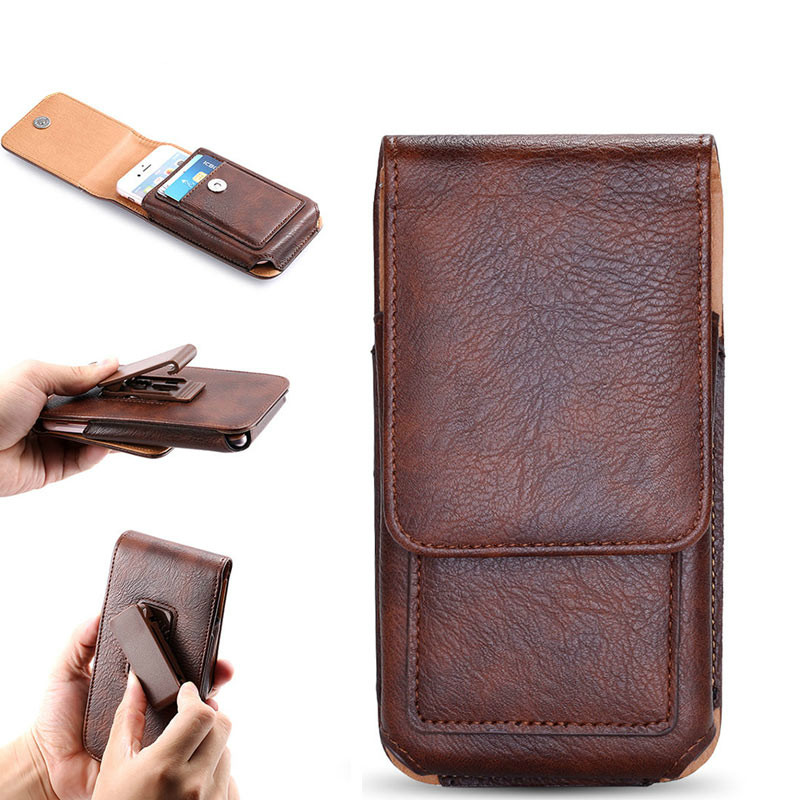 Belt Clip Pouch Case for Redmi 5 Plus 5A Note 5 Cover Waist Leather Case Holster for HUAWEI P20 for Galaxy S9 Phone Bag Fundas