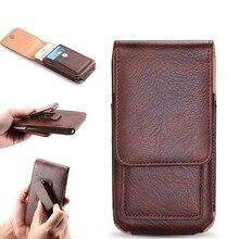 Зажим для ремня чехол для Redmi 5 плюс 5A Примечание 5 Крышка талии кожаный чехол для Huawei p20 для Galaxy S9 телефон сумка Fundas