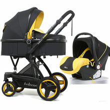 Luxury Baby Stroller High Landscape 3 in 1 Fashion Carriage European Pr