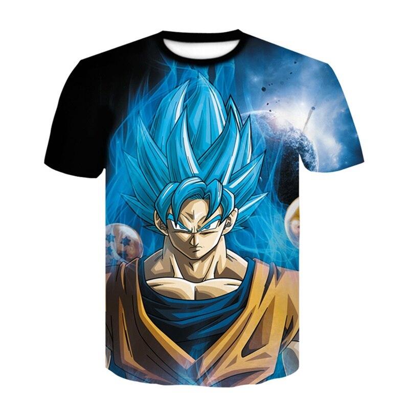 Brand Dragon Ball Z T Shirt Men Fashion Men's Casual T-shirt Short Sleeve  Goku Anime Cosplay 3D t-shirt Homme 4XL