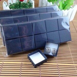 Image 3 - Nowy matowy czarny pierścień Box wysokiej jakości Mult Fuction dla pierścienia również może umieścić kolczyk (własne logo koszt dodatkowe MOQ: 1000 sztuk)